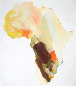 Africa 10, 2001, 54 x 48 cm, oil on paper
