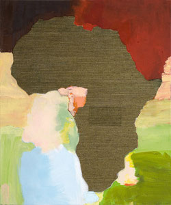 Africa 15, 2006, 60 x 49 cm, oil and wallpaper on canvas