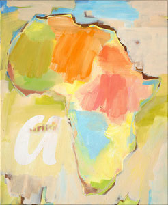 Africa a, 2000, 60 x 49 cm, oil on canvas