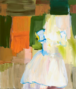 coronation dress, 2008, 107 x 91 cm, oil on canvas