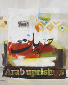 Arab uprisings 1, 2012, 200 x 160 cm, oil on canvas