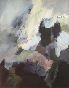London im Nebel, 1996, 150 x 130 cm, oil on canvas