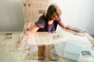 Colour photograph, analogue, double exposure. C-print on aluminium, 50x75 cm