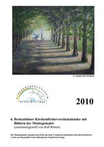 Kirchenfördervereinskalender 2010 - Deckblatt