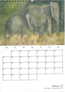 Tierkalender der Berkenthiner Montagsmaler 2013 - Januar