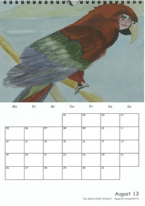 Tierkalender der Berkenthiner Montagsmaler 2013 - August