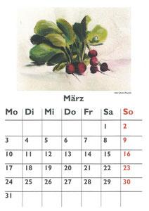 Küchenkalender 2014 - Udo Schulz  (Pastell)
