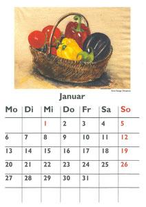 Küchenkalender 2014 - Änne Stange  (Tempera)