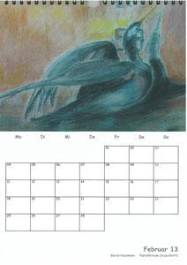 Tierkalender der Berkenthiner Montagsmaler 2013 - Februar