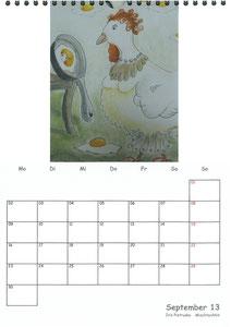 Tierkalender der Berkenthiner Montagsmaler 2013 - September