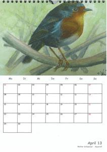 Tierkalender der Berkenthiner Montagsmaler 2013 - April