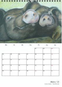 Tierkalender der Berkenthiner Montagsmaler 2013 - März