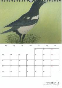 Tierkalender der Berkenthiner Montagsmaler 2013 - November