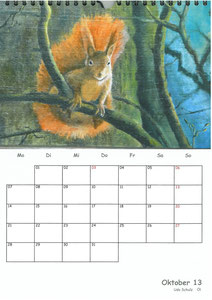 Tierkalender der Berkenthiner Montagsmaler 2013 - Oktober