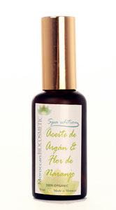 Aceite de masaje: Argán y flor de naranjo. Moroccan Biocosmetic.