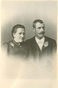 Brunner Anna und Cherubin Schnarf um 1904