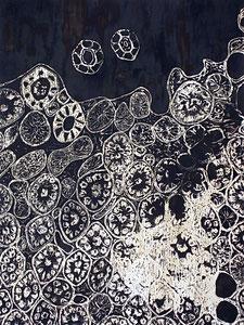 ohne Titel   2012   Lamourlack auf Zink   40x30 cm