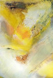 Ibiza 6, 2016, Marmormehl, Pigmente, Beize und Öl auf Leinwand, 100x70cm
