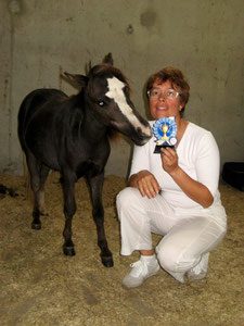 ES Midnigt Frost Adena et Isabelle - Championnat de France à l'Hippodrome d'Argentan Juillet 2011