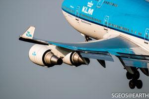 KLM Boeing 747 - Polderbaan 36L-18R [ISO 100 400mm f/5.6 1/1000s]