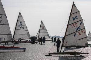 Ice yachting - Monnickendam