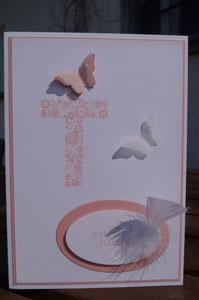 Karte zur Taufe - Mädchen