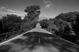 Road Ma-10 at Lluc (Mallorca, Spain. 2019)