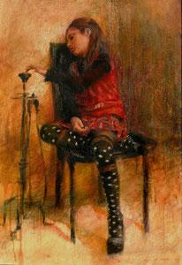 La Noia, 2009, olio su tela