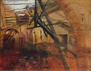 Fuoco, 2006, olio su tecnica mista