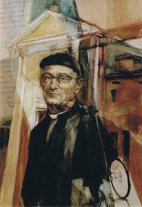 Portrait : A Don Lino, olio su tela