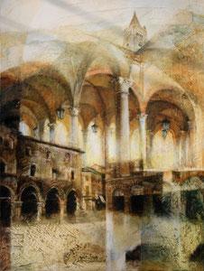 Omaggio a Forlì, 2011, olio su tela