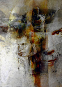 Portrait : Emanuele, 2013, olio su tela