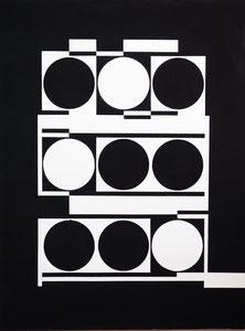 Ellen Roß: Bianco&Nero n°1, 2017,  46 x 61 cm, Vinyl auf Bütten 300g pro qm