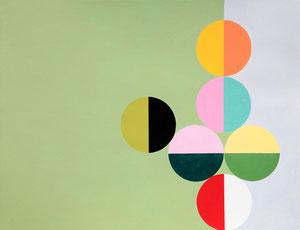 Ellen Roß: Quadratur des Kreises n°17, 2015, Vinyl auf Papier, 30 x 40 cm