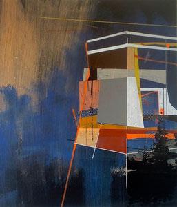 James Wallace Harris: Spannung und Sehnsucht, 2015, Acryl auf Leinwand, Galerie SEHR Koblenz