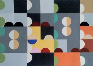 Ellen Roß: Quadratur des Kreises n°14, 2015, Vinyl auf Karton, FABIANO 400gr/qm 50 x 70 cm