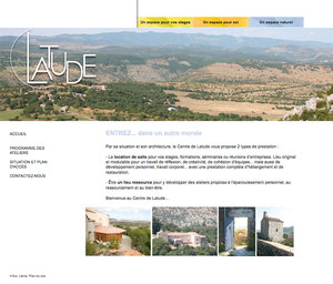 Latude site : conception graphique, architecture et ergonomie