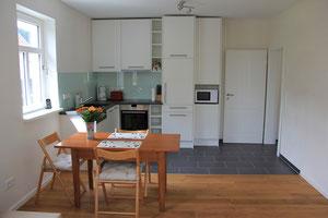 Essbereich und Küche der Ferienwohnung