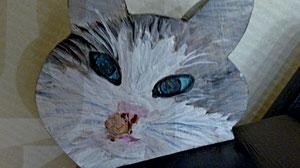 Houten Nestkastje, Nestkastje  met Kat, Details, Vogelhuisje bouwen ,  vogelhuisje met kat_16