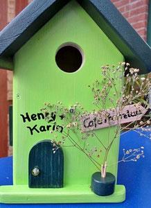 """Houten Nestkastje, Nestkastje """"Café"""", Details, Vogelhuisje bouwen ,  vogelhuisje """"café"""""""