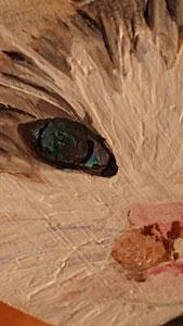 Houten Nestkastje, Nestkastje  met Kat, Details, Vogelhuisje bouwen ,  vogelhuisje met kat_3