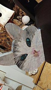 Houten Nestkastje, Nestkastje  met Kat, Details, Vogelhuisje bouwen ,  vogelhuisje met kat_2