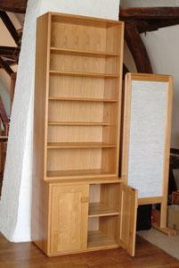 étagère: meuble de rangement en hêtre
