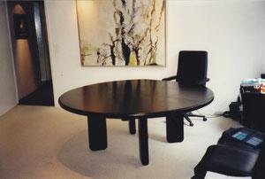 bureau -table de conférence laqué noir sur mesure