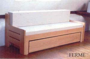 lit banquette extensible avec dossier site de ateliergaubert. Black Bedroom Furniture Sets. Home Design Ideas