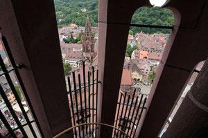 Blick aus dem Turm des Freiburger Münsters