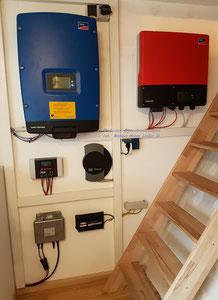 PV-Lieder Eigenstromlösungen PV-Anlage 1, 2, 3, SMA Wechselrichter, Laderegler Steca, Solarlog, Letrika Mikro-Wechselrichter