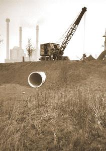 Rohrverlegung Kraftwerk im Chemiepark marl - November 1964