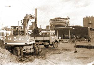 Bautätigkeitenfür  im Eingangsbereich zum Chemiepark Marl - November 1977