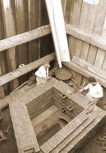 Maurerarbeiten - März 1968